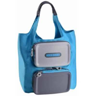 Foldable Tote Bag With Rectangular Shape Eva Hard Cover