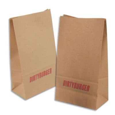 Sac kraft personnalisé emballage en kraft brun sans poignée